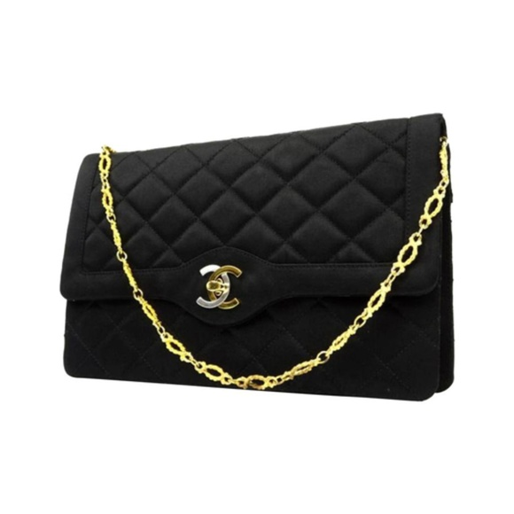 7878f5ce15ca18 CHANEL Bags | Quilted Satin Classic Flap 221856 | Poshmark